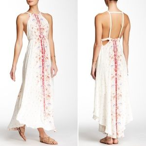 NWT- Free People Maxi Dress White w/ Floral Print